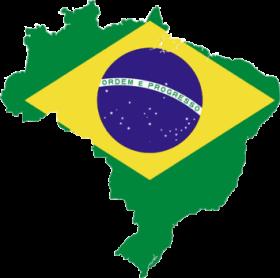 Brazilian-flag-over-map